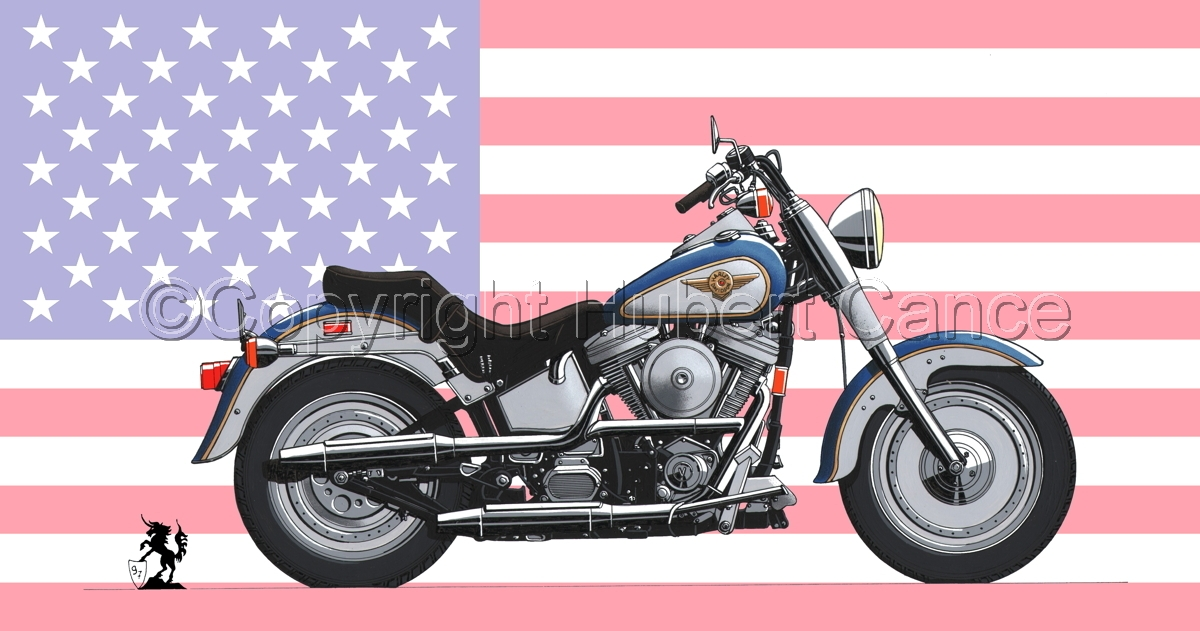 "Harley-Davidson ""Fat Boy"" (Flag #1) (large view)"