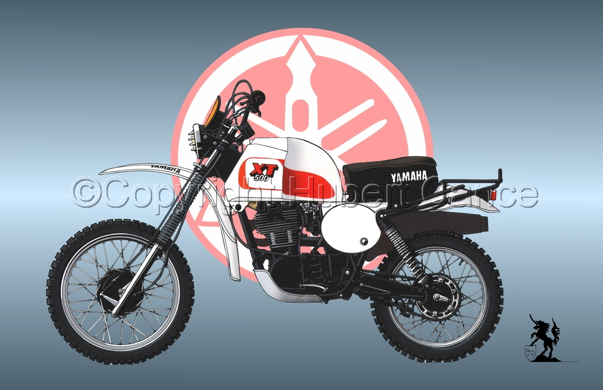 Yamaha XT500 (Logo #1) (large view)