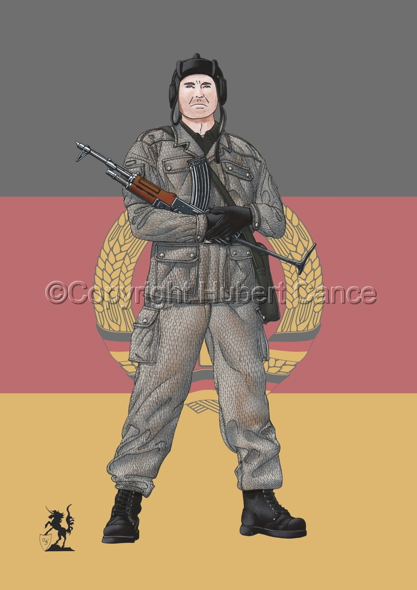 East German Tank Crewman (Flag) (large view)