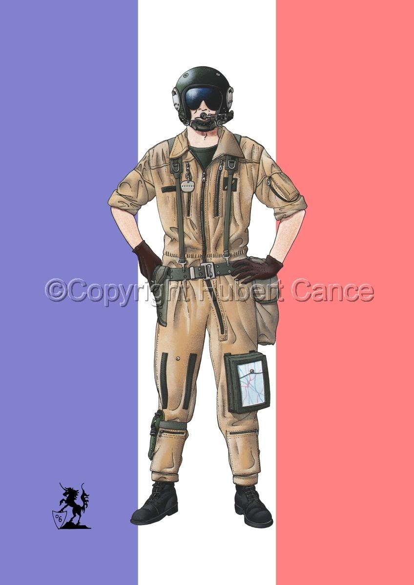 French ALAT Pilot (Gulf War 1) (Flag) (large view)