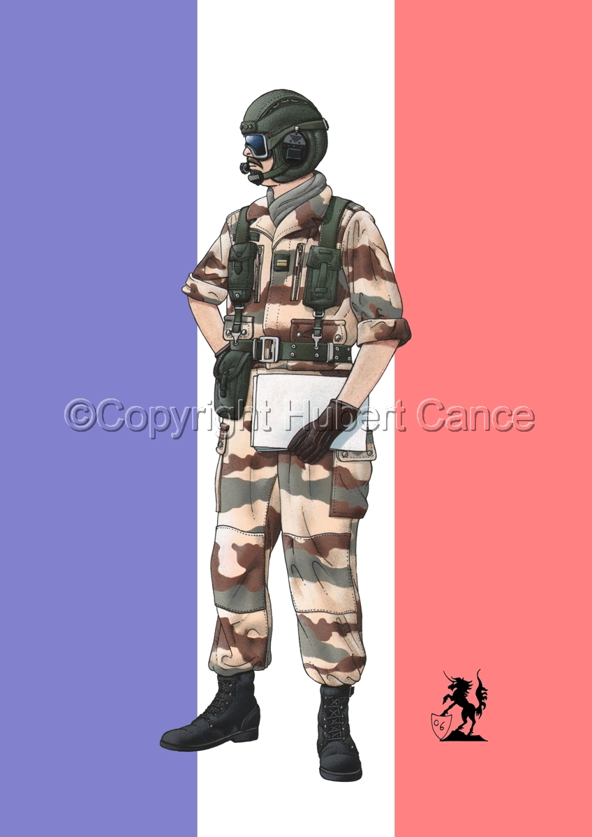 French Tank Commander (Gulf War 1) (Flag) (large view)