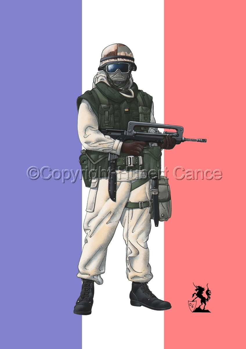 French Sapeur (Gulf War 1) (Flag #1) (large view)