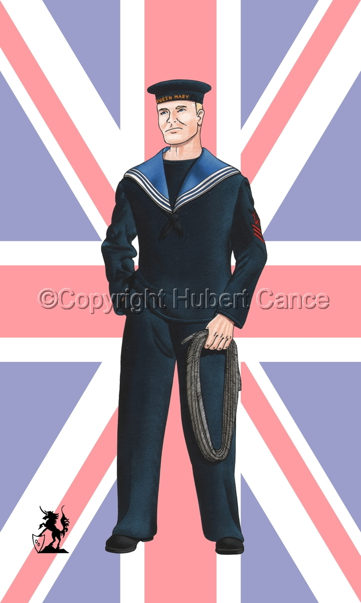 Sailor, HMS Queen Mary, Royal Navy (WW1) (Flag #1) (large view)