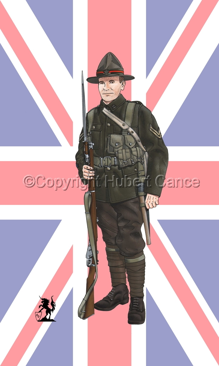 Corporal, 6th. (Hauraki) Infantry Regiment, New Zealand Rifles, France (1917) (Flag #1) (large view)