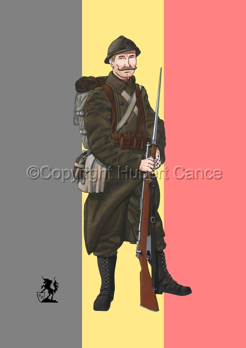 12eme Regiment de Ligne du Prince Leopold (1917) (Flag) (large view)