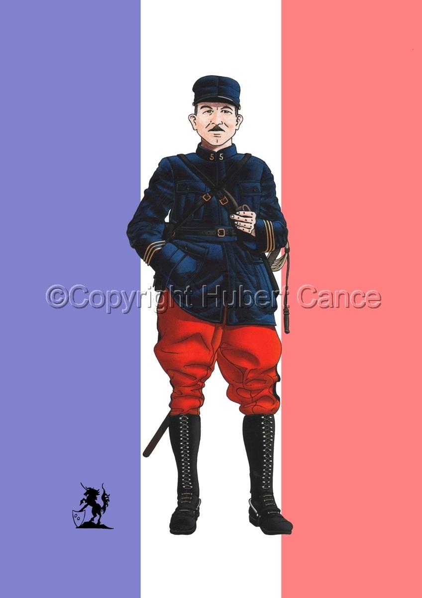 French, Capitaine, 5eme Regiment d'Infanterie (1914) (Flag) (large view)