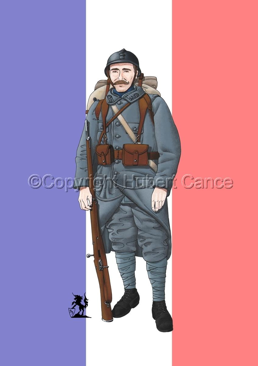 French 139eme Regiment d'Infanterie (1915) (Flag) (large view)