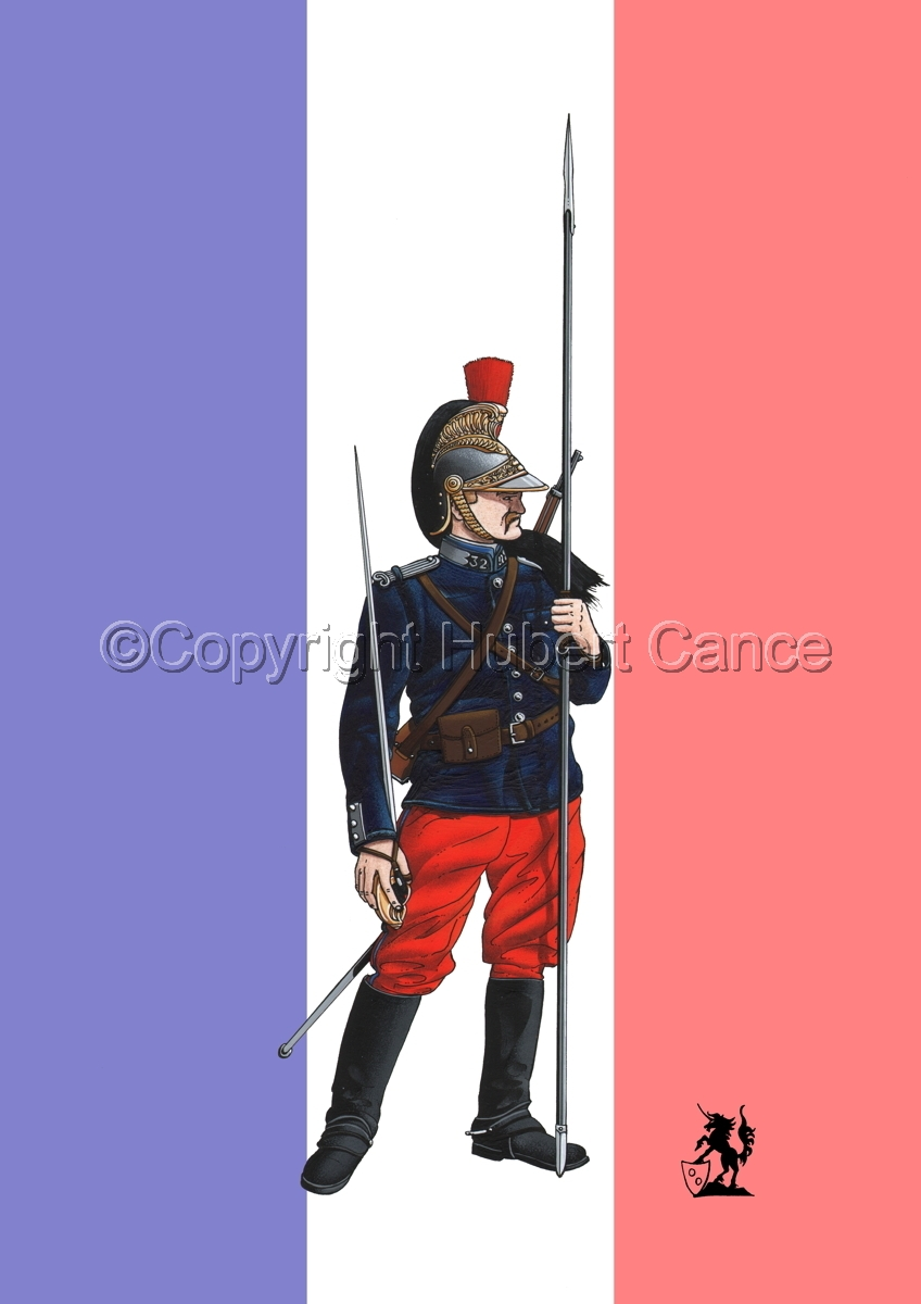 French 32eme Regiment de Dragons (1914) (Flag) (large view)