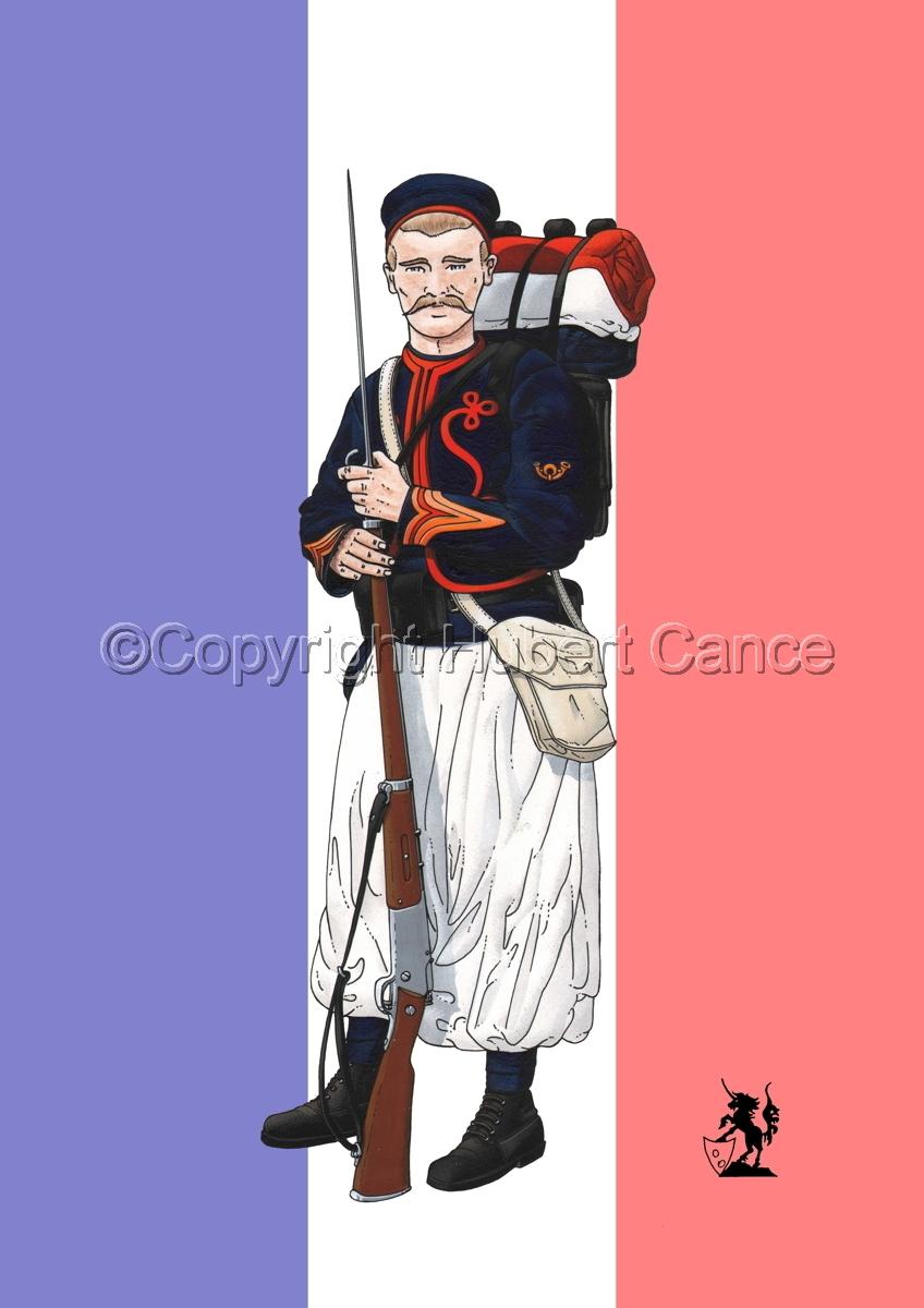 Sergent, rengage, 1er Regiment de Zouaves (1914) (Flag) (large view)
