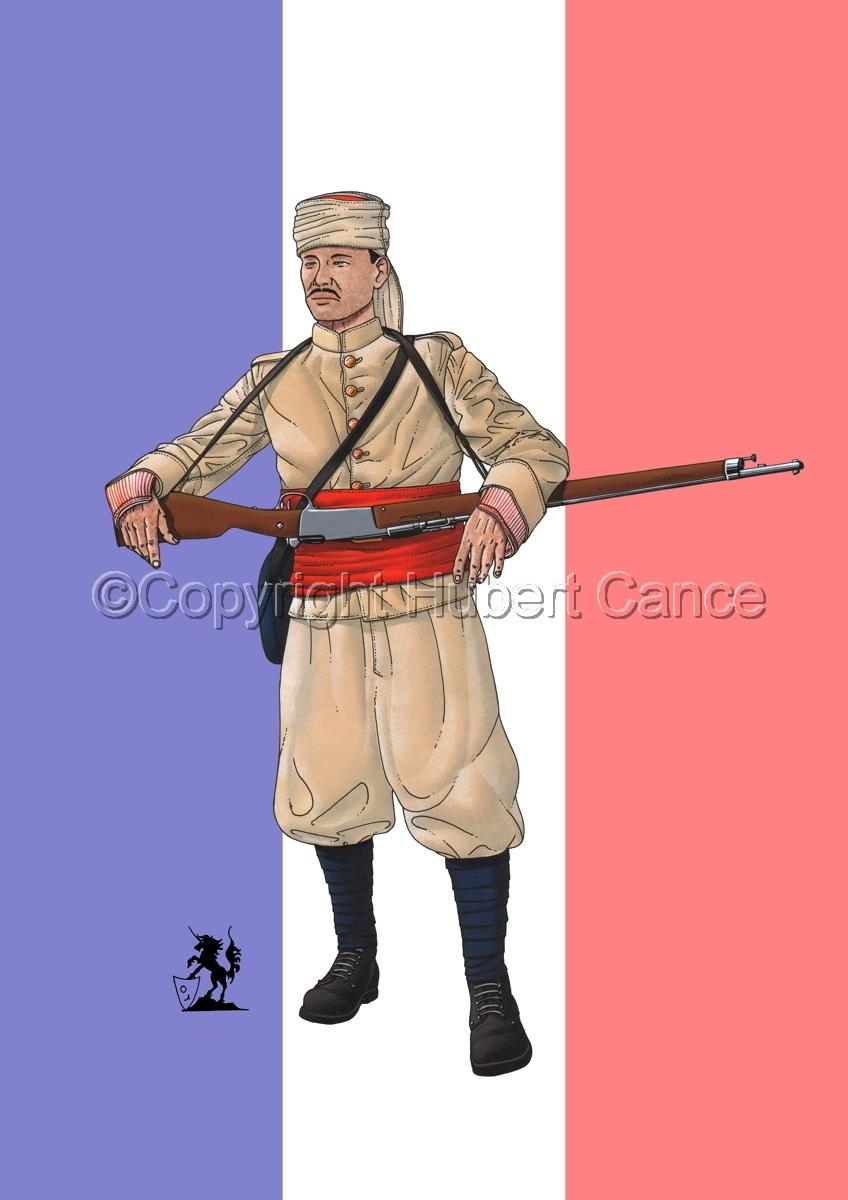 French Soldier, 1er Regiment de Tirailleurs Marocains (1914) (Flag) (large view)