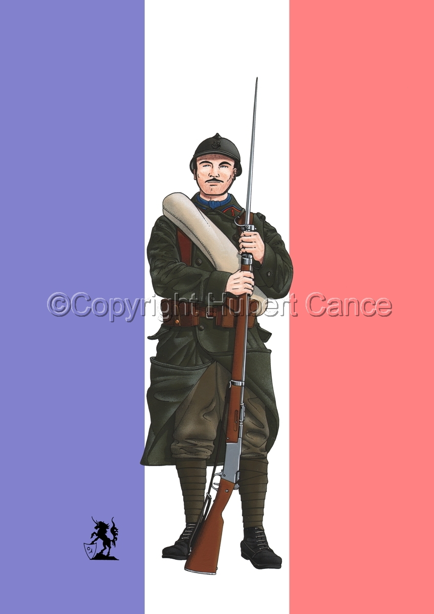 French Colonial Infantry, 1er RMZT (1917) (Flag) (large view)