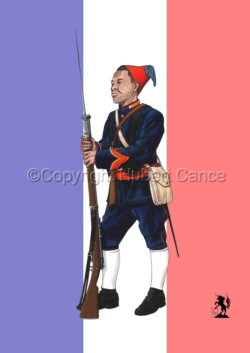 Caporal, Tirailleurs Senegalais (1914) (Flag) (large view)