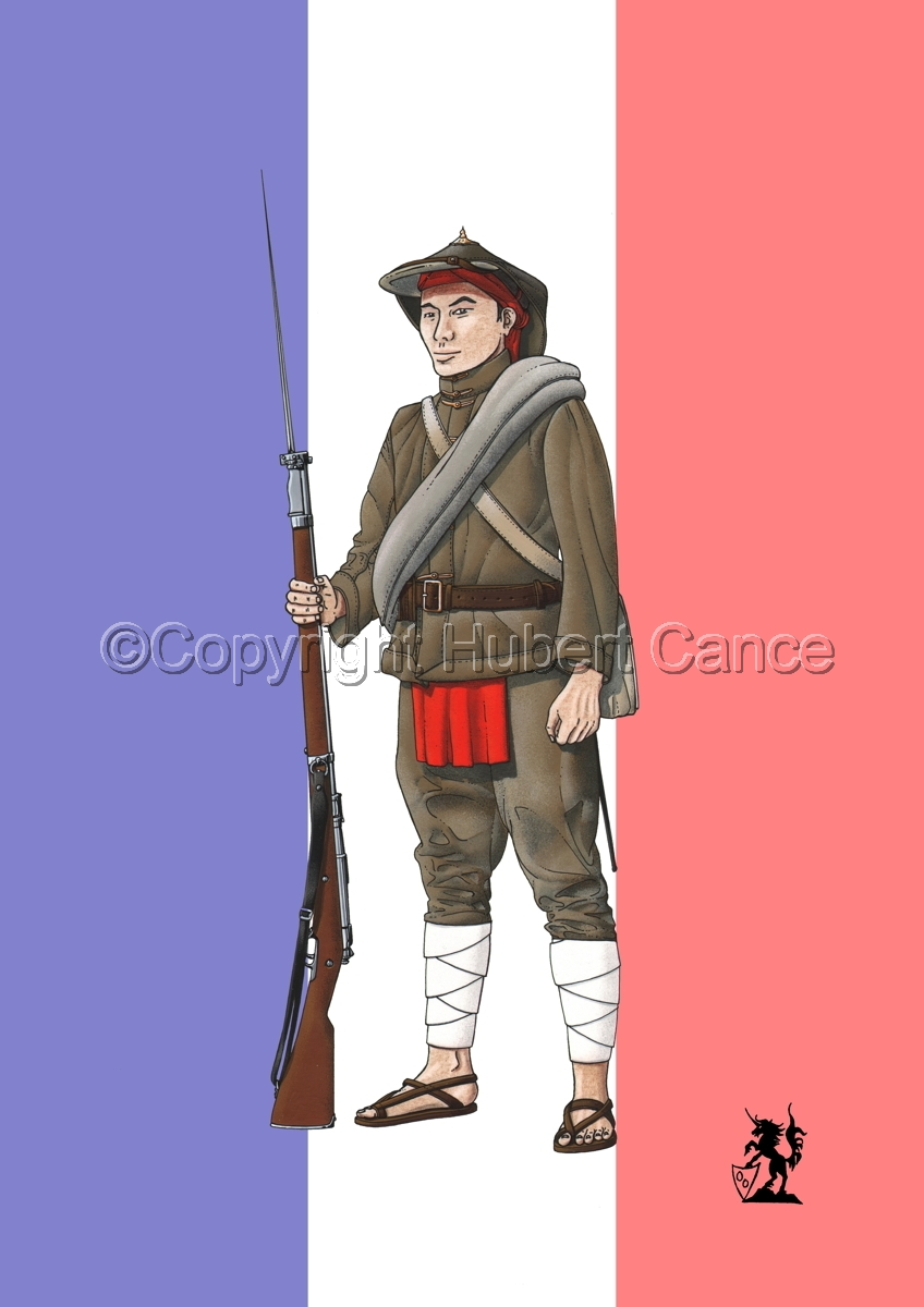 French Fusilier 1er Regiment de Tirailleurs Annamites (1914) (Flag) (large view)