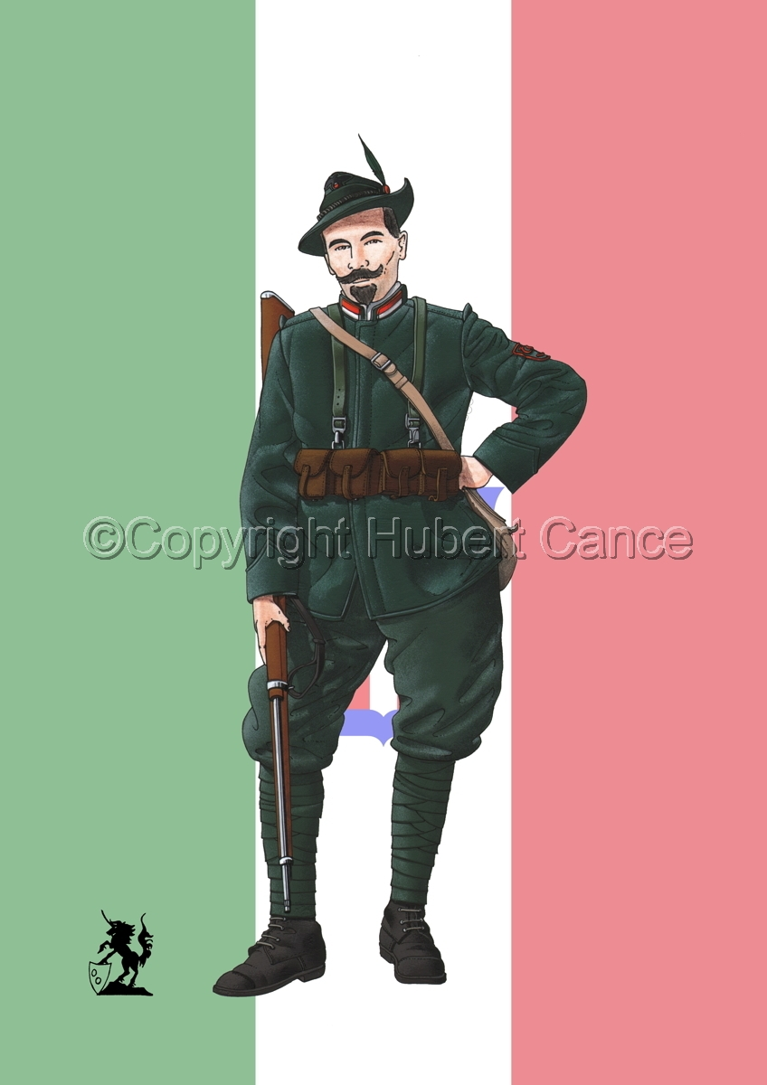 Alpini, 33rd. (Czechs) Regiment, Royal Italian Army (1918) (Flag #1) (large view)
