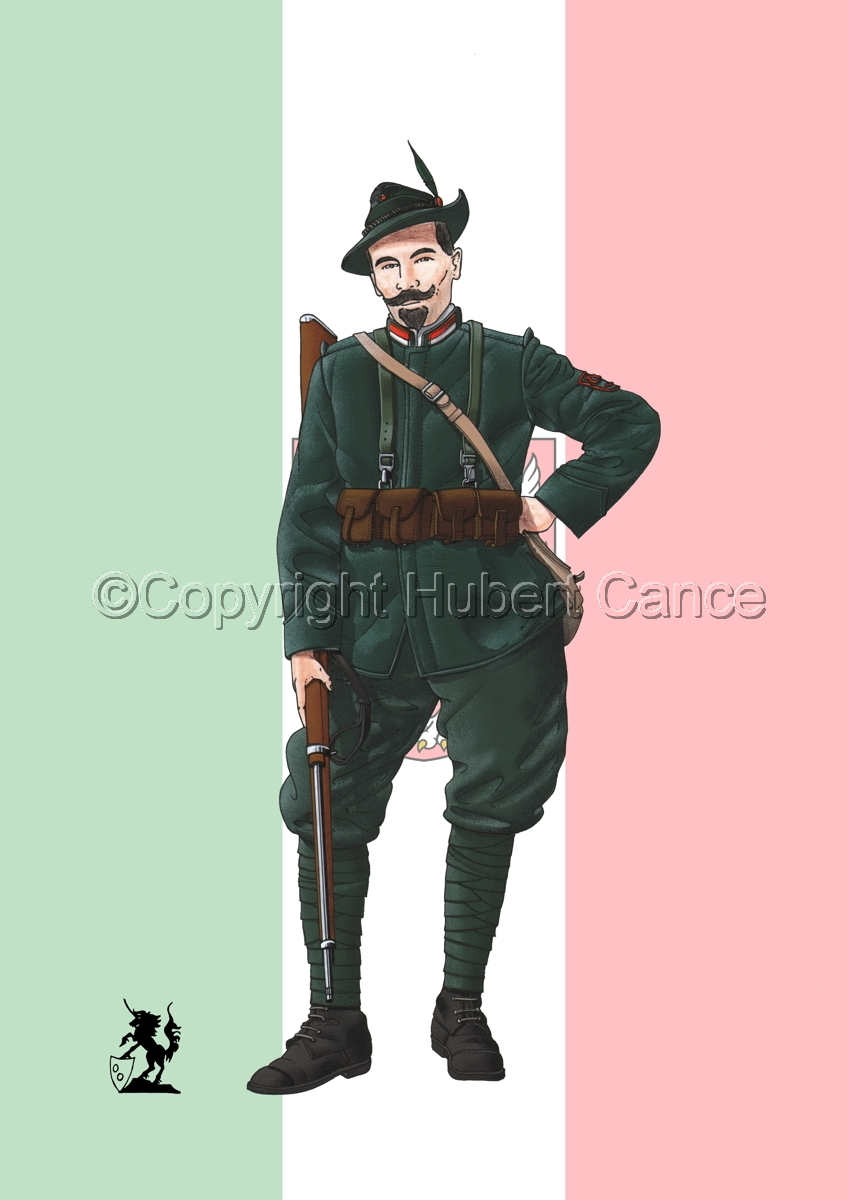 Alpini, 33rd. (Czechs) Regiment, Royal Italian Army (1918) (Flag #2) (large view)