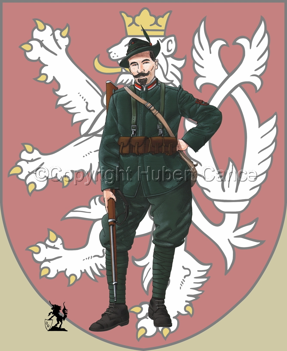 Alpini, 33rd. (Czechs) Regiment, Royal Italian Army (1918) (Insignia #1) (large view)