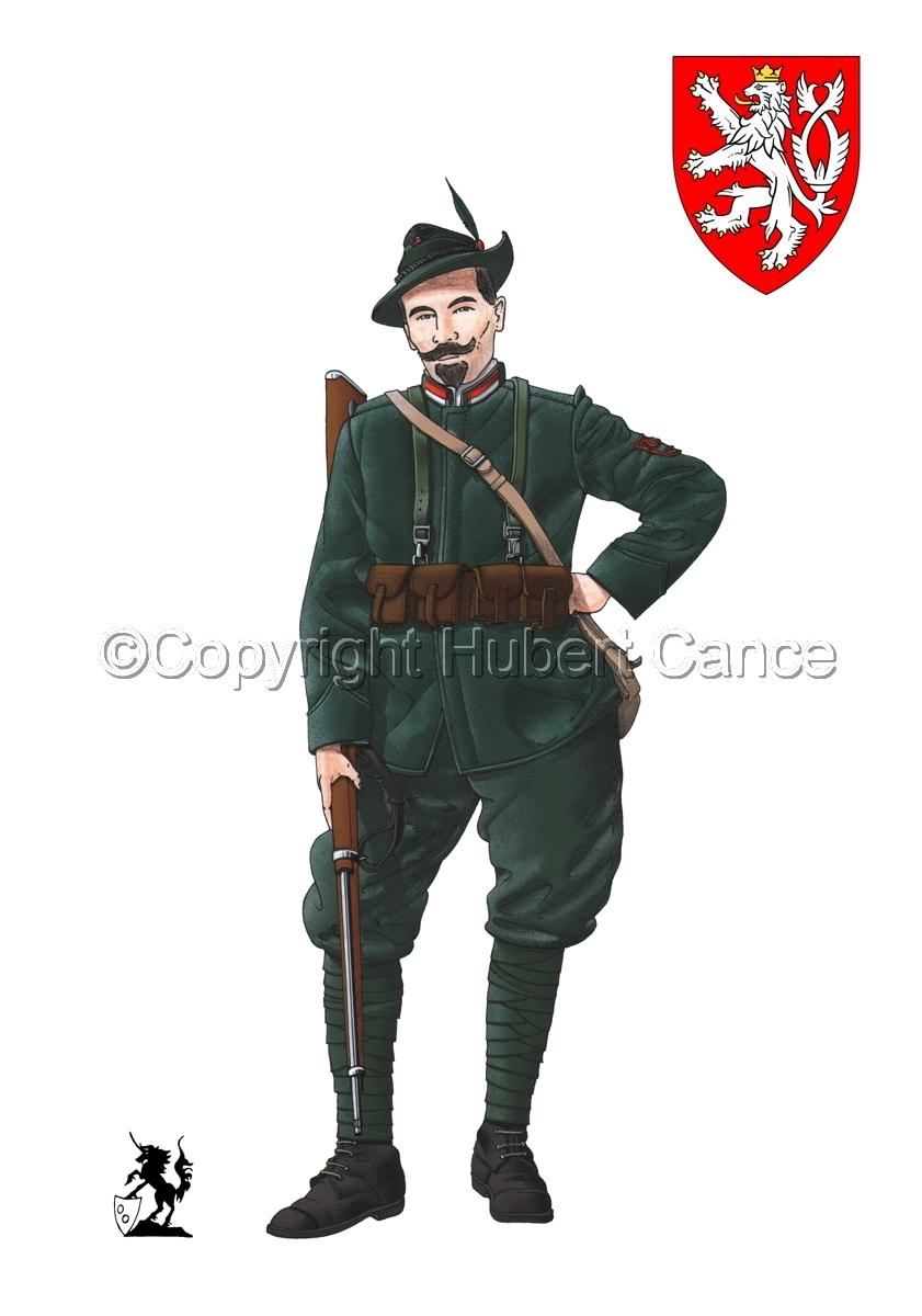 Alpini, 33rd. (Czechs) Regiment, Royal Italian Army (1918) (Insignia #1.1) (large view)
