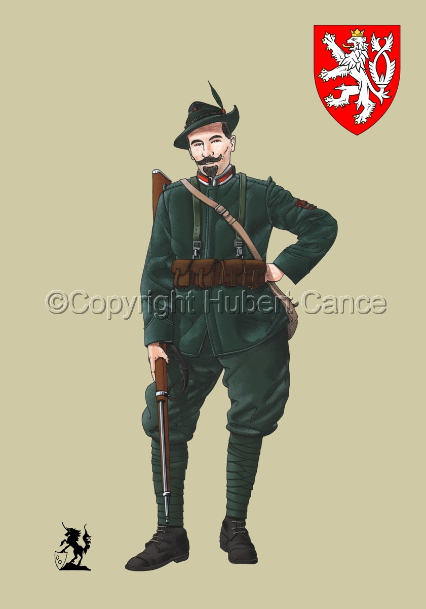 Alpini, 33rd. (Czechs) Regiment, Royal Italian Army (1918) (Insignia #1.2) (large view)