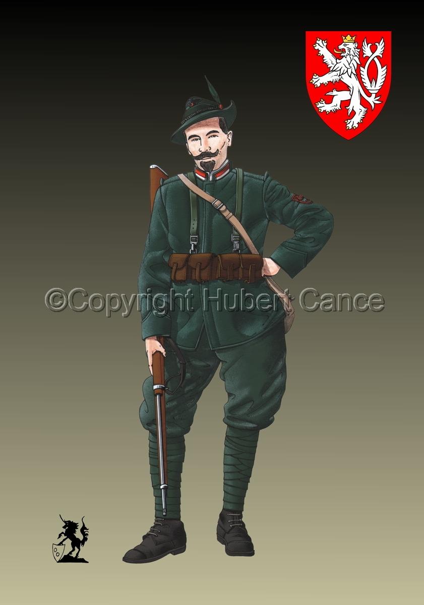 Alpini, 33rd. (Czechs) Regiment, Royal Italian Army (1918) (Insignia #1.3) (large view)