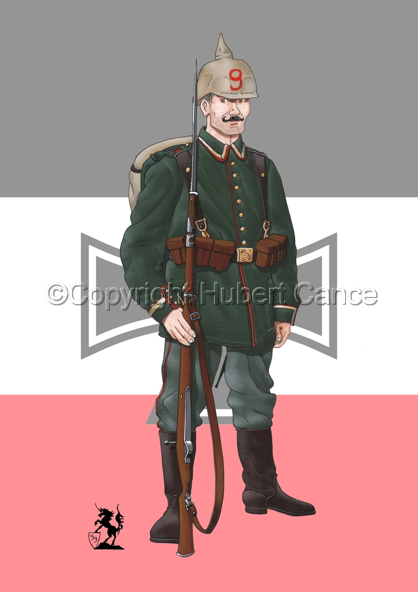 9th. Prussian Grenadier Regiment (1914) (Flag #2) (large view)