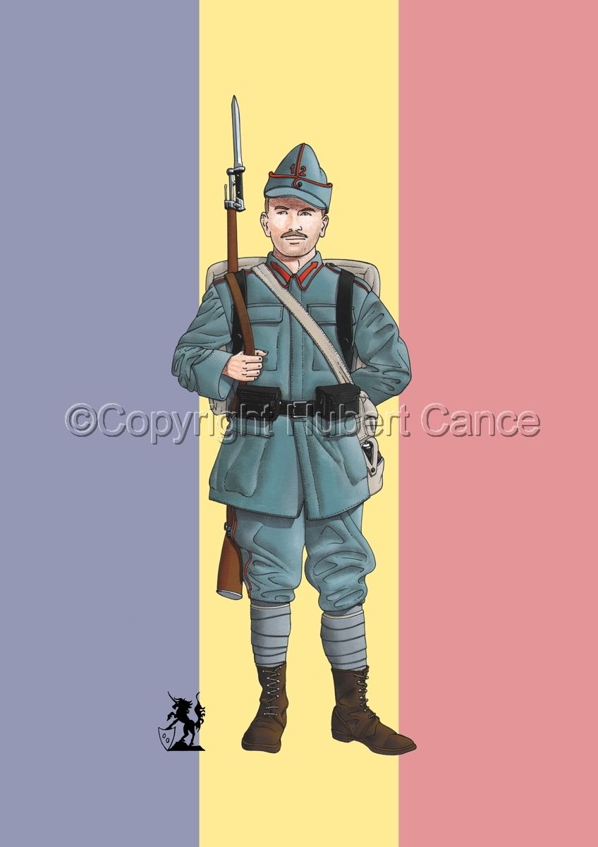 12th Infantry Regiment, Romanian Army (1916) (Flag #1) (large view)