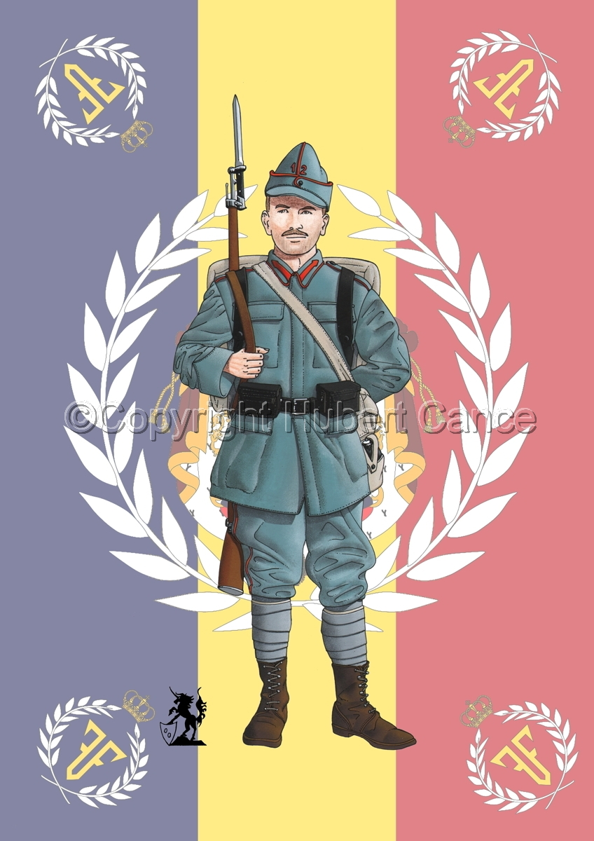 12th Infantry Regiment, Romanian Army (1916) (Flag #2) (large view)