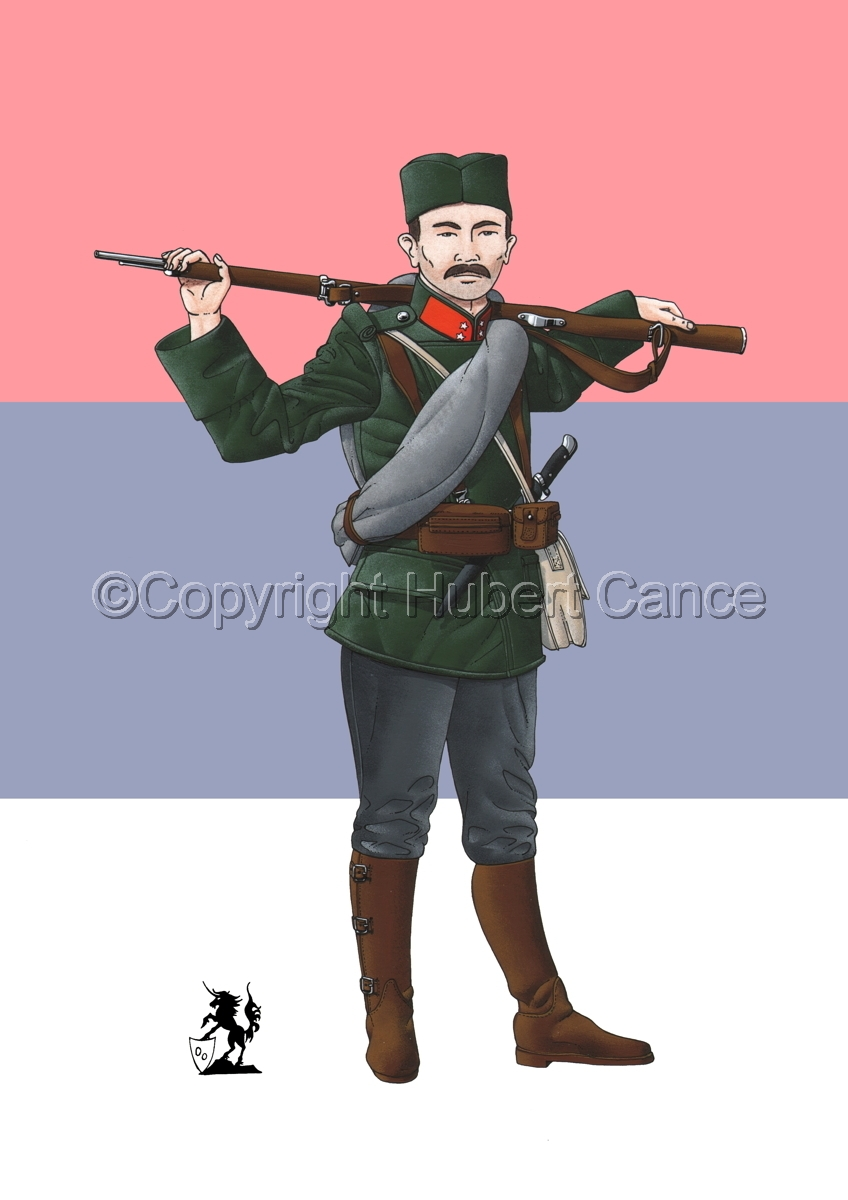 Corporal, Serbian Infantry (1914) (Flag #1) (large view)