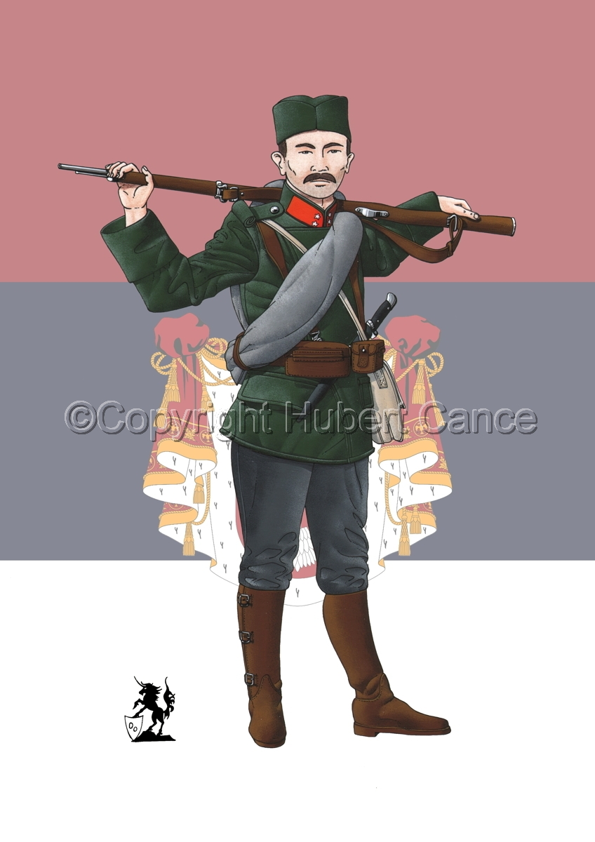 Corporal, Serbian Infantry (1914) (Flag #2) (large view)
