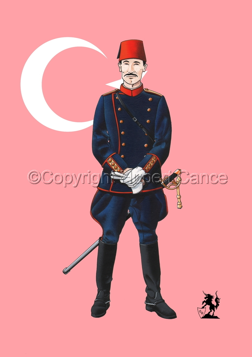 Officer, Turkish Infantry (1914) (Flag) (large view)