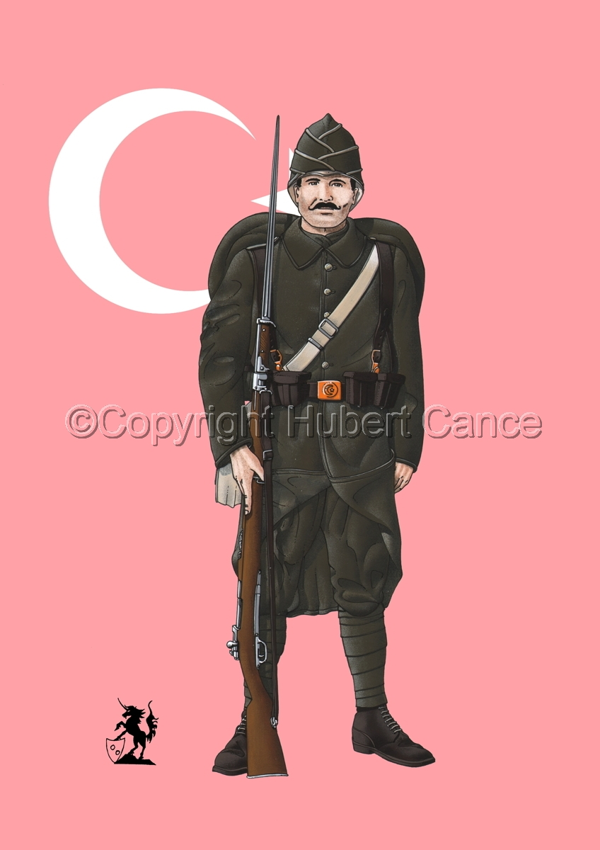 Turkish Infantryman (1916) (Flag) (large view)