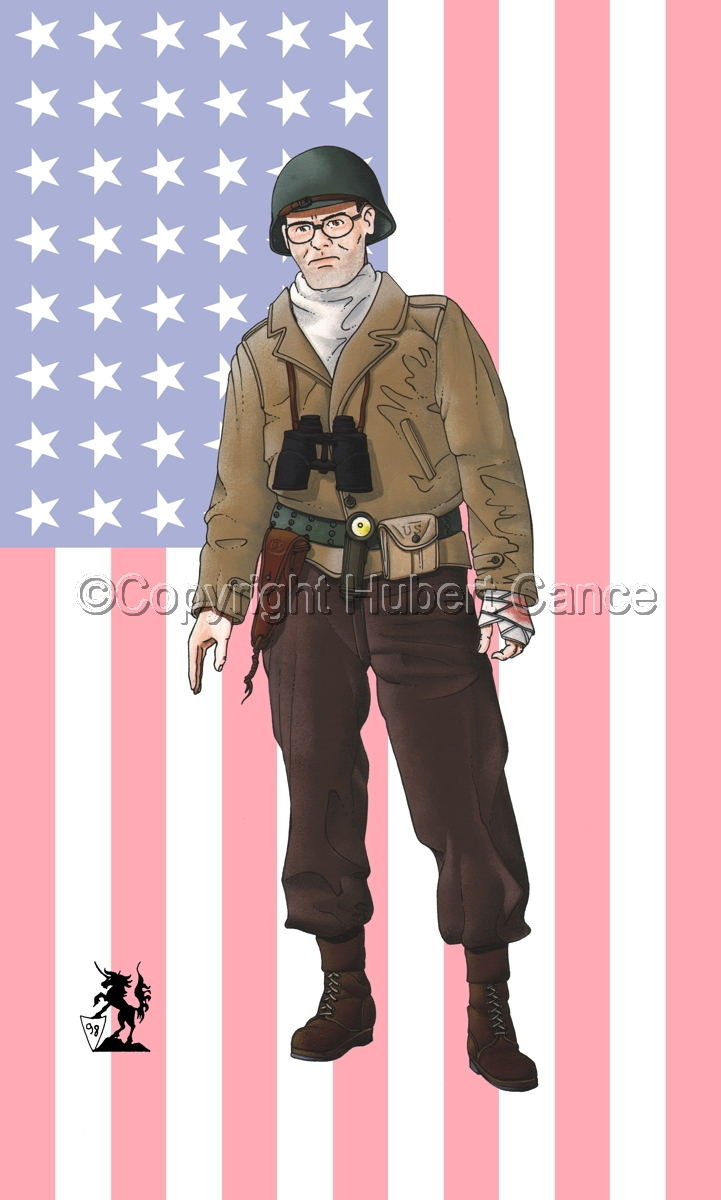 US Army Infantry Officer, Normandie, France (1944) (Flag#1) (large view)