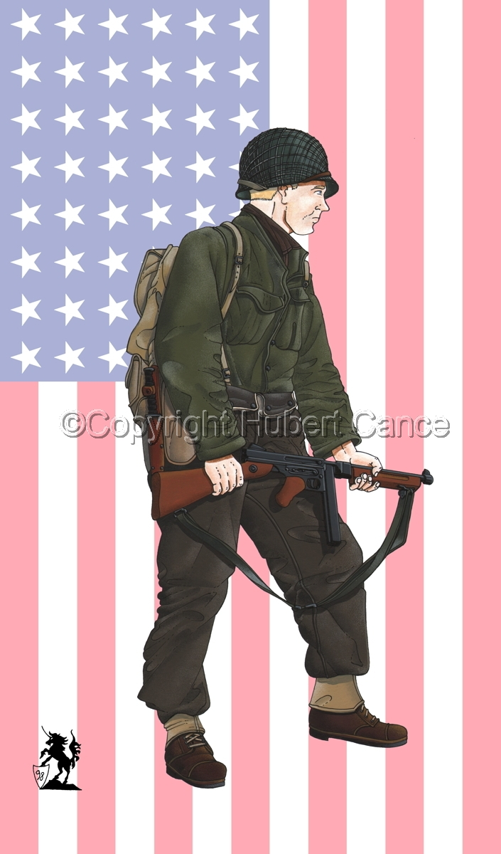 US Infantry, Normandie, France (1944) (Flag #1) (large view)