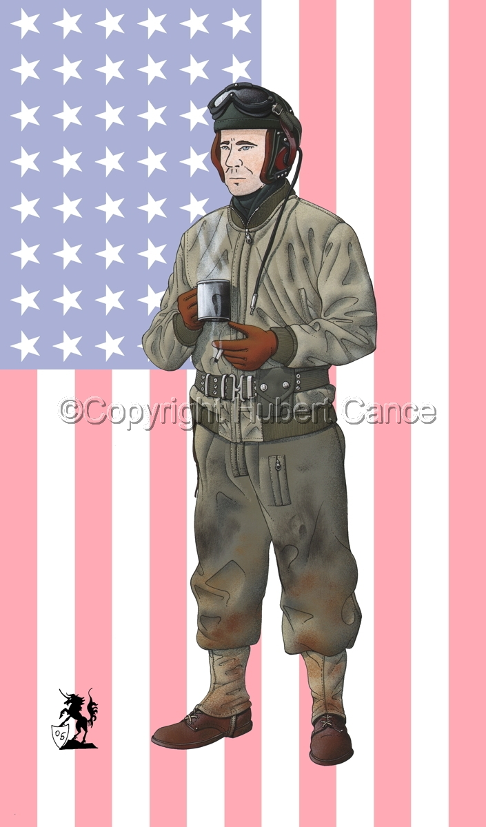 US Tank Crew, Battle of the Bulge, Ardennes, Belgium (1944) (Flag #1) (large view)