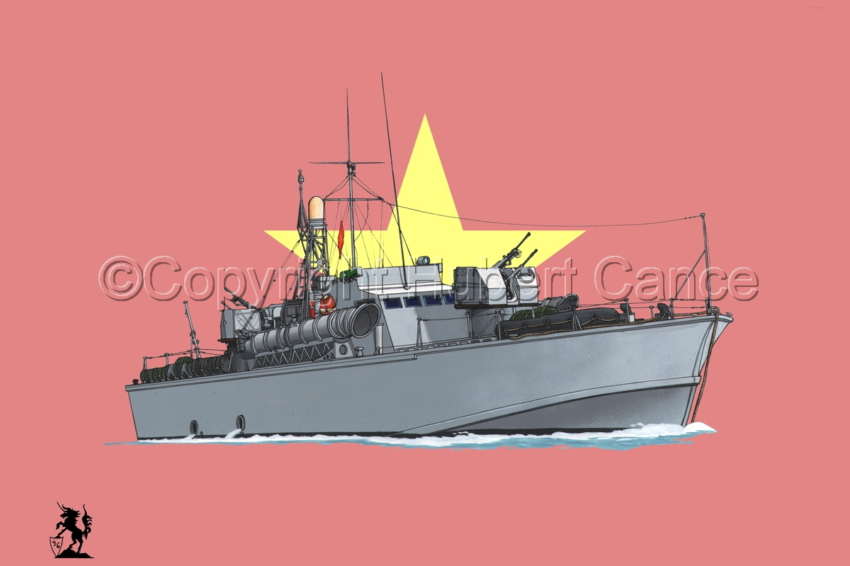 North Vietnamese P6 Torpedo Boat (Flag #1) (large view)
