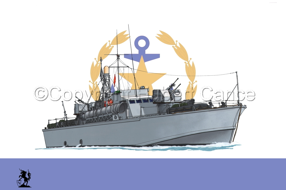 North Vietnamese P6 Torpedo Boat (Flag #2) (large view)