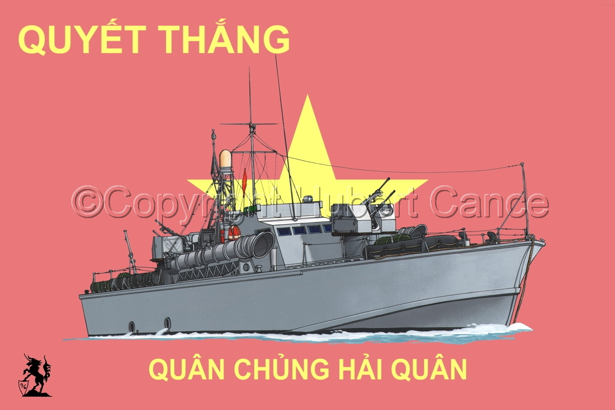 North Vietnamese P6 Torpedo Boat (Flag #3) (large view)