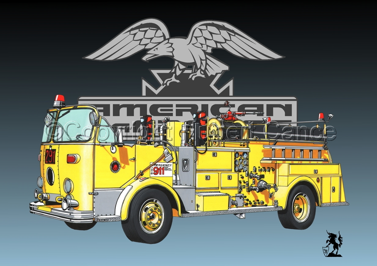 American-LaFrance Model 800 (Logo #1) (large view)