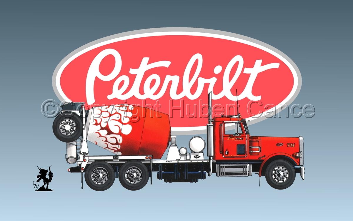 Peterbilt 357 Mixer (Logo #1) (large view)