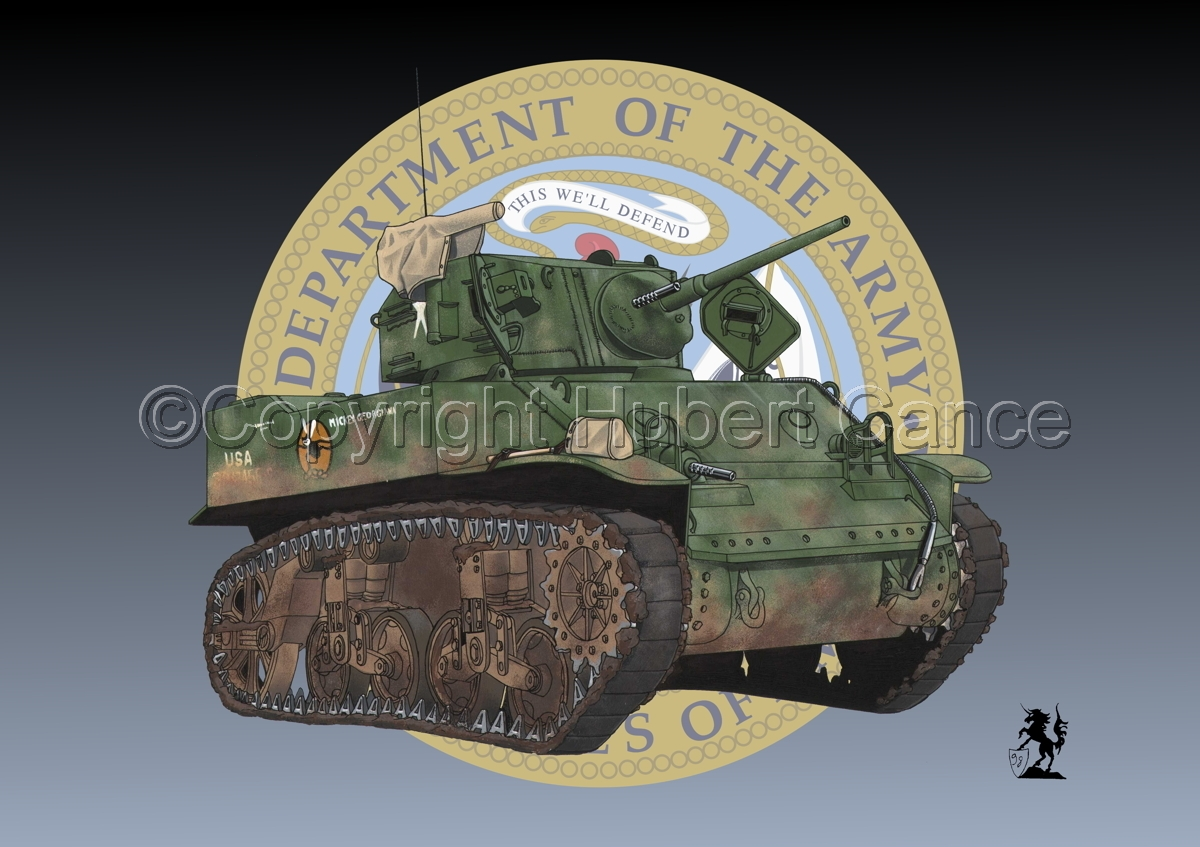 """M5 """"Stuart"""" Light Tank (Insignia) (large view)"""