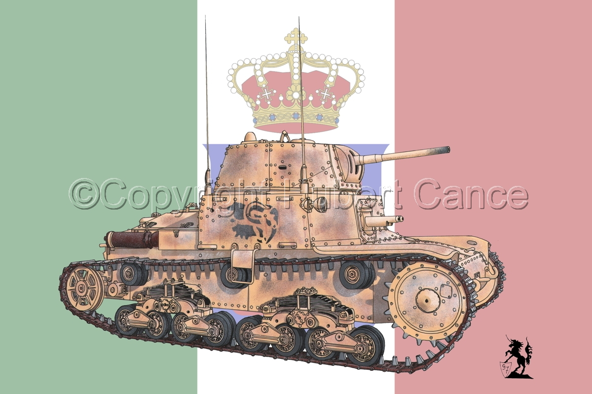 M13/40 medium Tank (Flag) (large view)