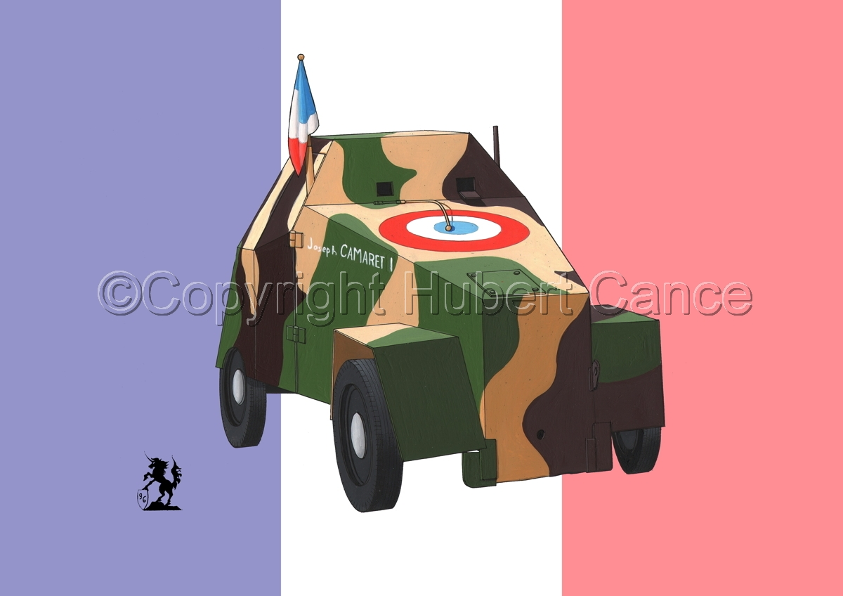 imca 5 Blindee (Improvised Armored Car) (Flag) (large view)