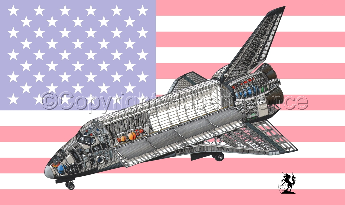 Rockwell Space Shuttle (Flag #1) (large view)