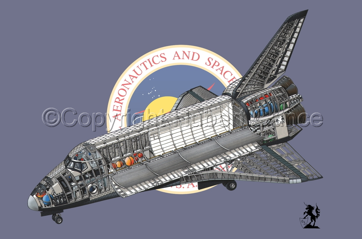 Rockwell Space Shuttle (Flag #2) (large view)
