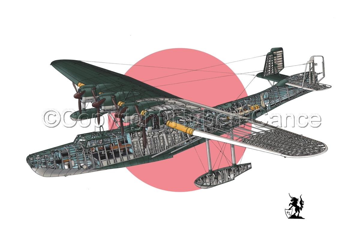 """Kawanishi H6K5 """"Mavis"""" (Flag #1) (large view)"""