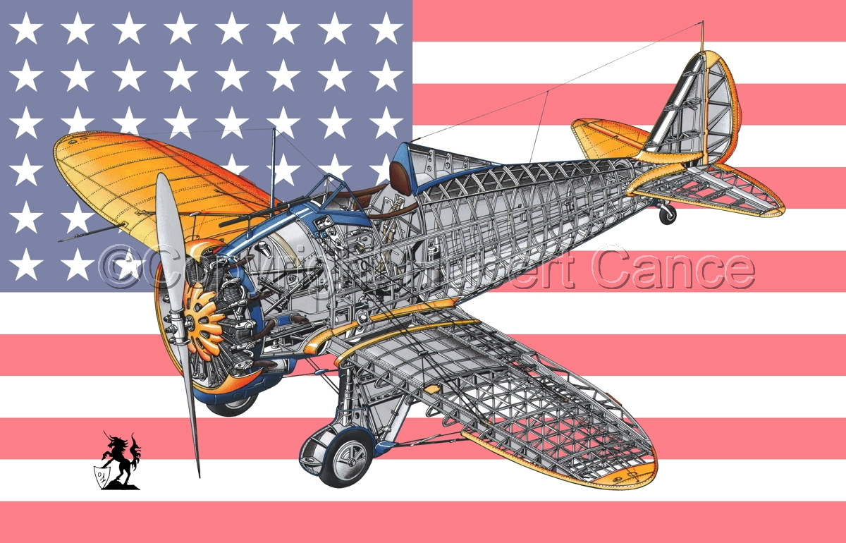 """Boeing P-26B ""Peashooter"" (Flag #1) (large view)"