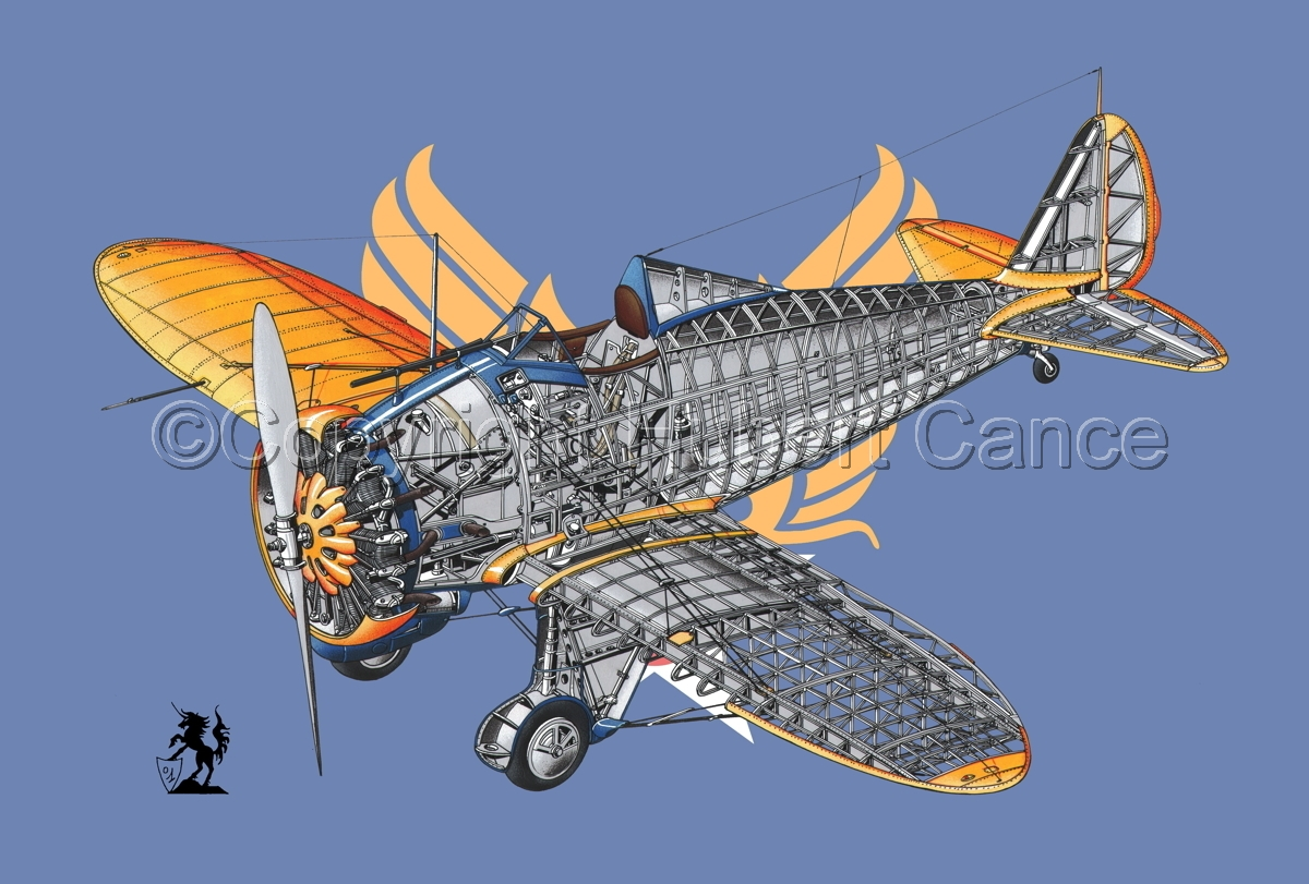 """Boeing P-26B ""Peashooter"" (Flag #2) (large view)"