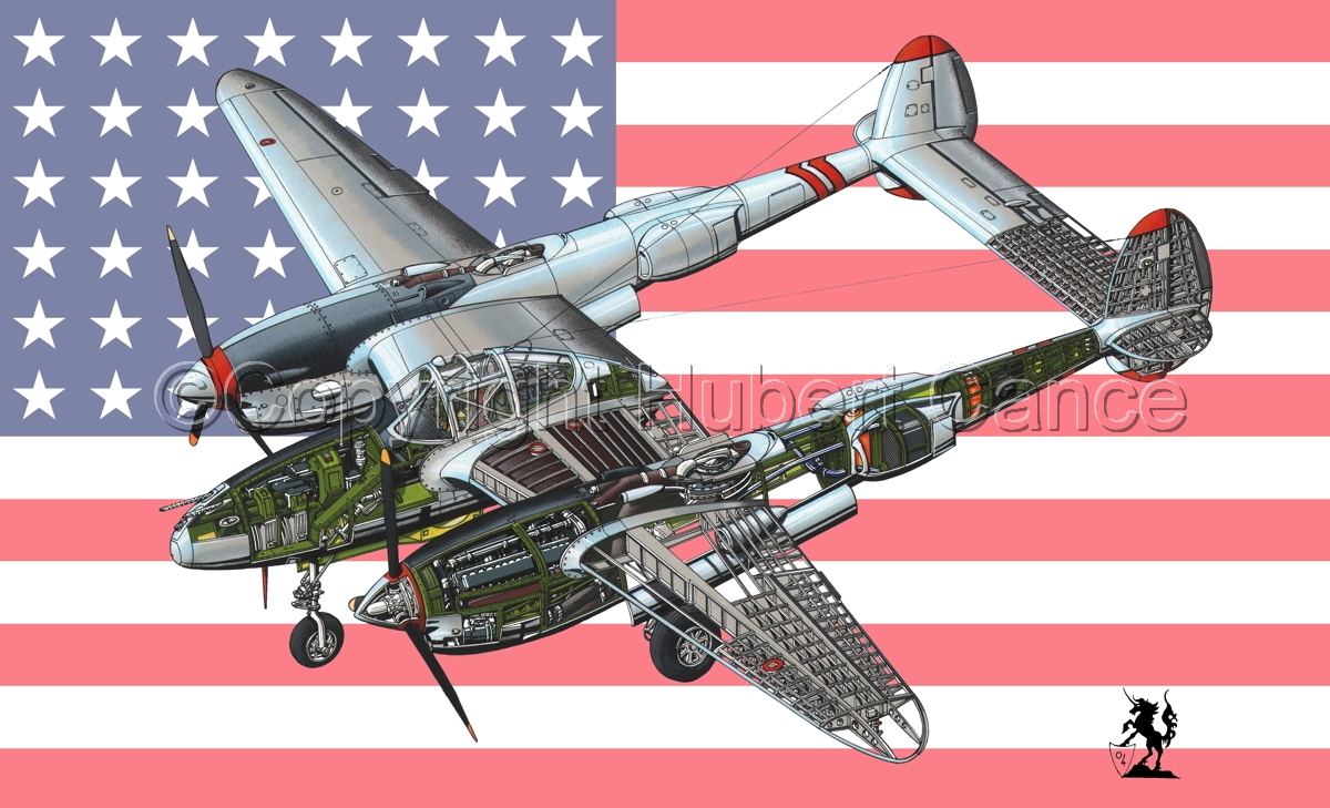 "Lockheed P-38L ""Lightning"" (Flag #1) (large view)"
