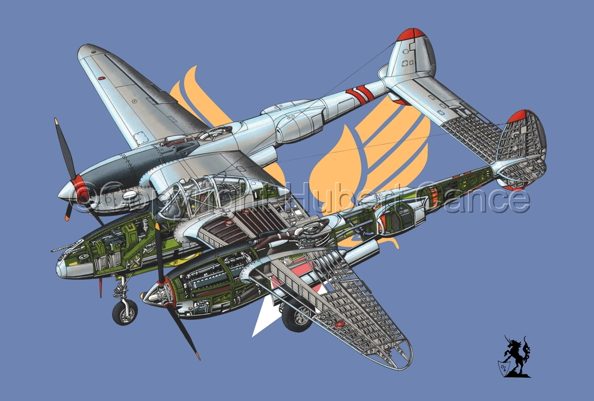 "Lockheed P-38L ""Lightning"" (Flag #2) (large view)"