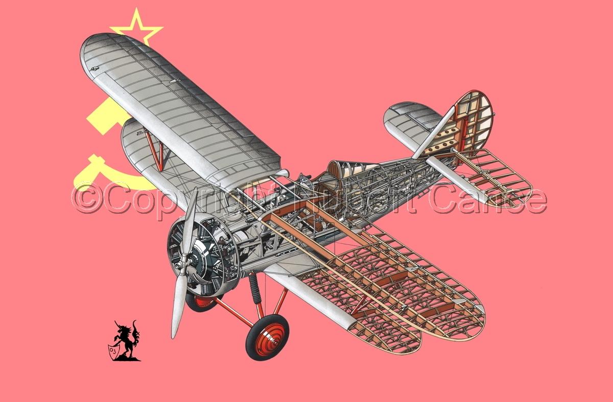 Polikarpov I.5 (Flag #1) (large view)