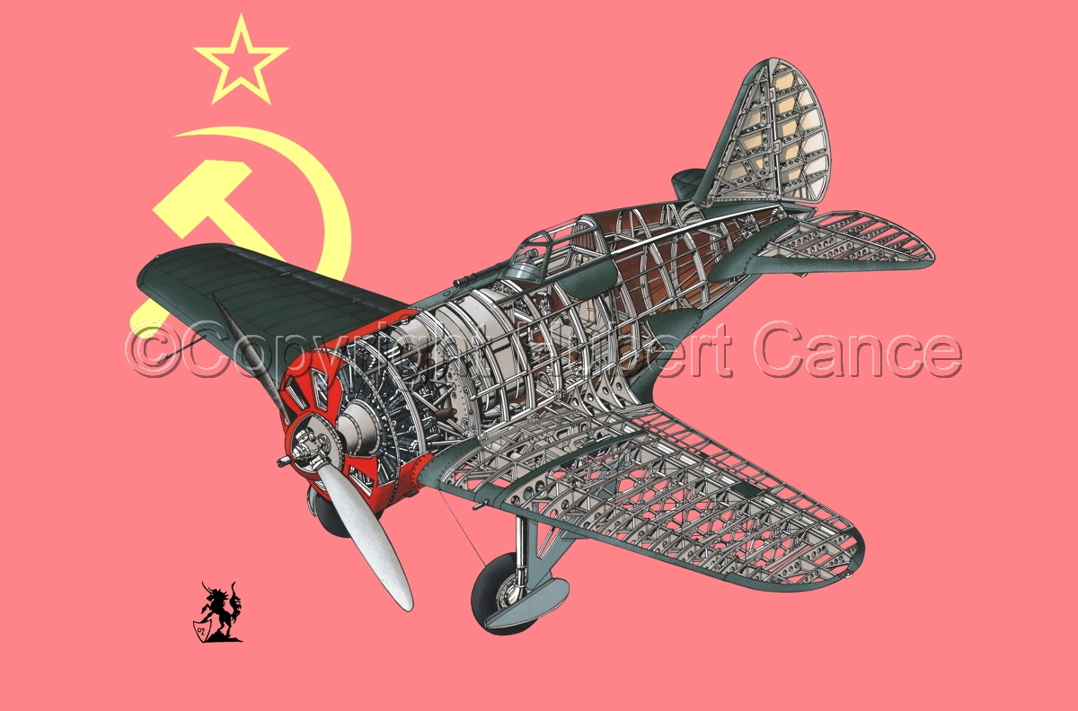 Polikarpov I.16 Type 5 (Flag #1) (large view)
